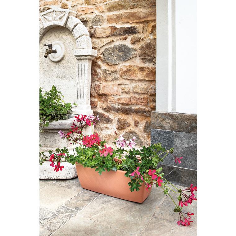 Jardinière bord lisse, couleur claire L42x P17,6x H15,6 230366