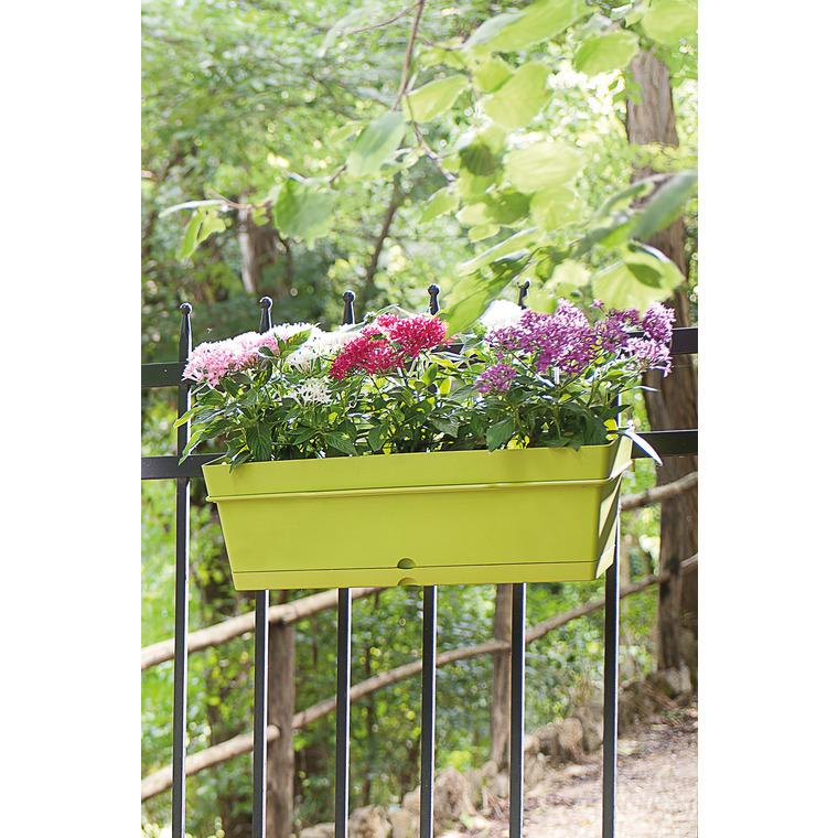 Jardinière Samba avec soucoupe et support Olive L50x28 x H17 230392