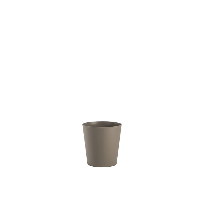 Pot Tokyo modulable avec soucoupe D20 cm x H19 cm taupe 230397