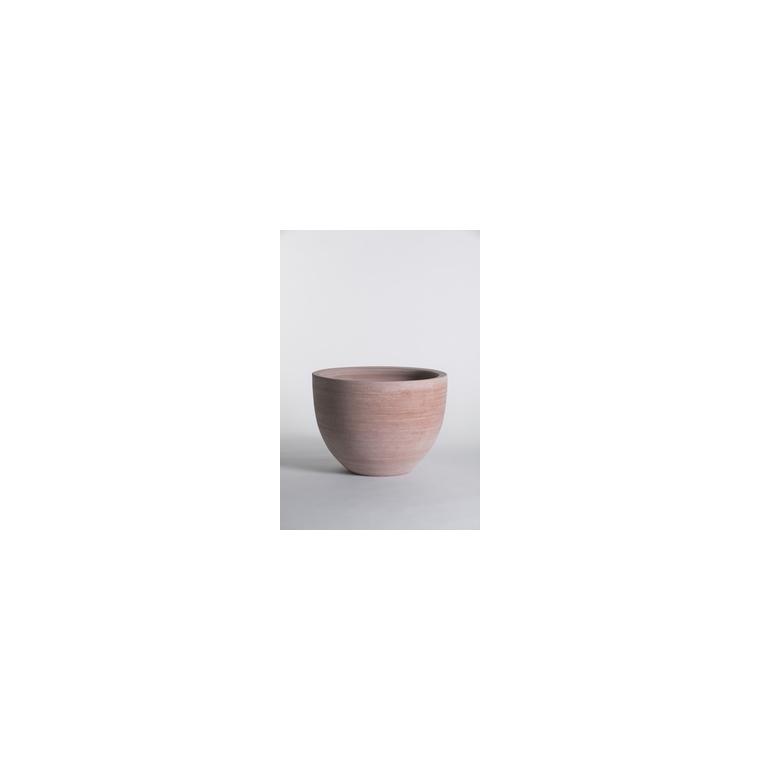 Pot Cuvier bas contemporain en terre claire H 26 x Ø 36 cm 230502
