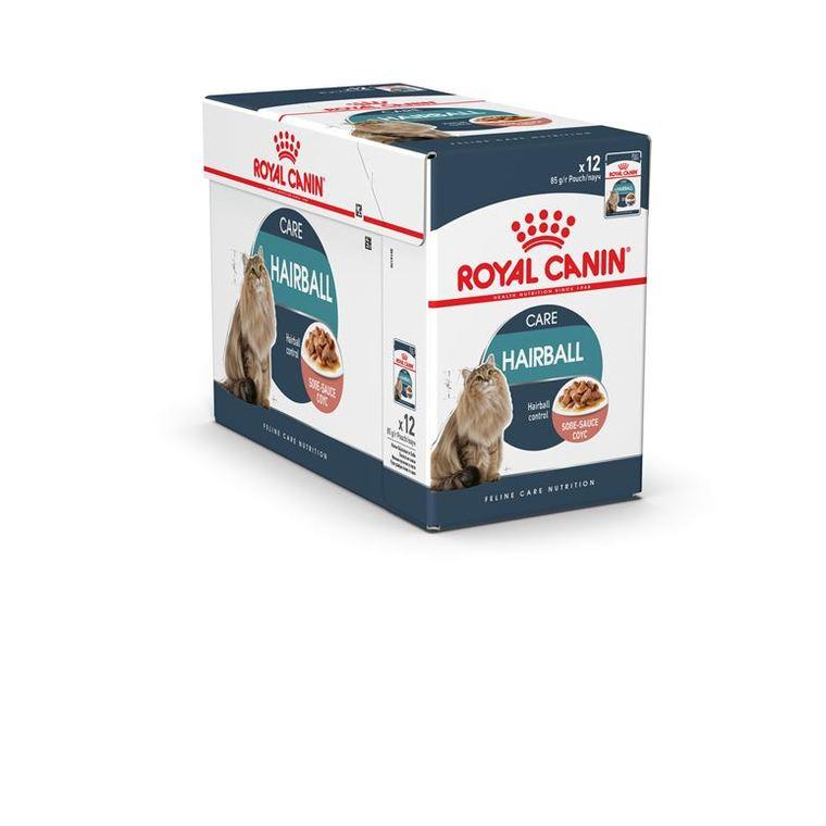Hairball Care Sauce Aliment pour chat 12 sachets de 85 g 230546