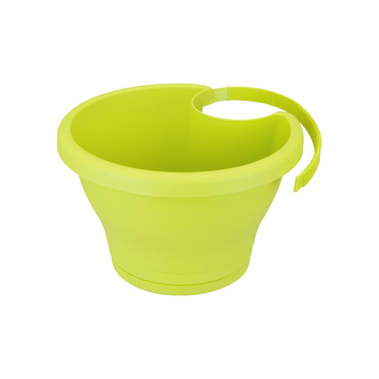 Pot CORSICA gouttière Elho lime vert - 26x24 cm 231059