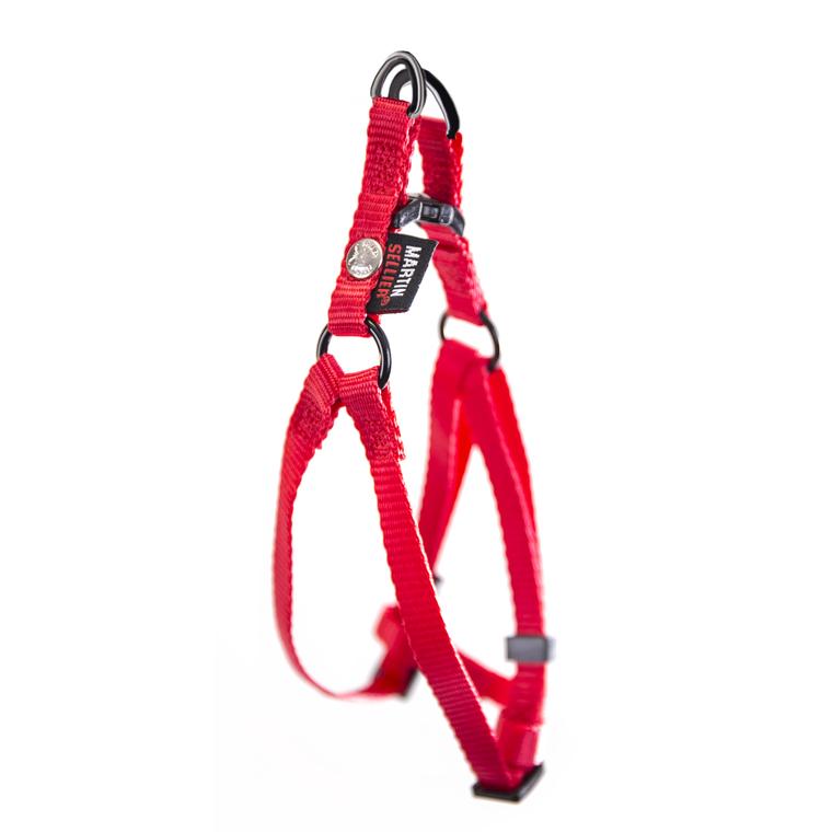 Harnais baudrier réglable rouge pour chien - 1x25/35 cm 232009