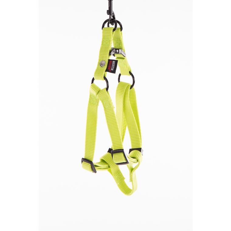 Harnais baudrier réglable vert citron pour chien - 1x25/35 cm 232010