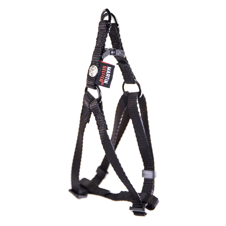 Harnais baudrier réglable noir pour chien - 1x25/35 cm 232012