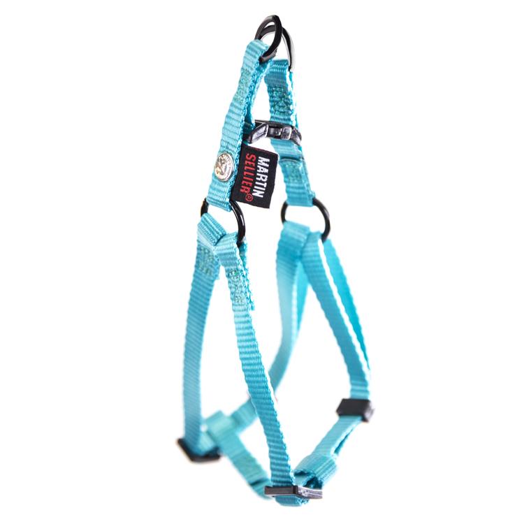 Harnais baudrier réglable turquoise pour chien - 1x25/35 cm 232017