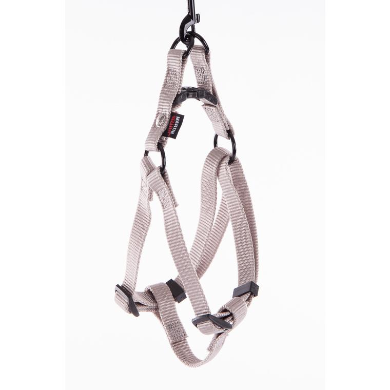 Harnais baudrier réglable gris pour chien - 1,6x35/50 cm 232022