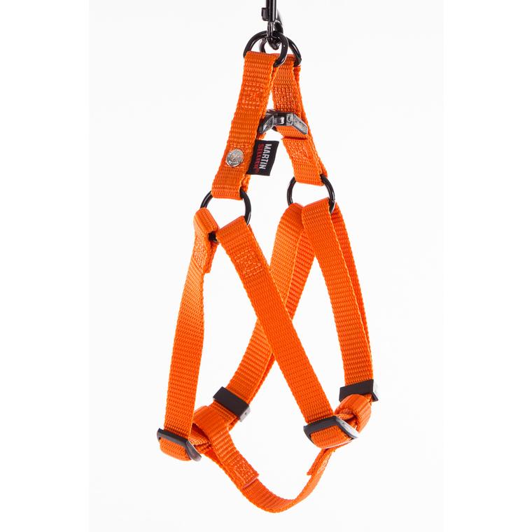 Harnais baudrier réglable orange pour chien - 1,6x35/50 cm 232024