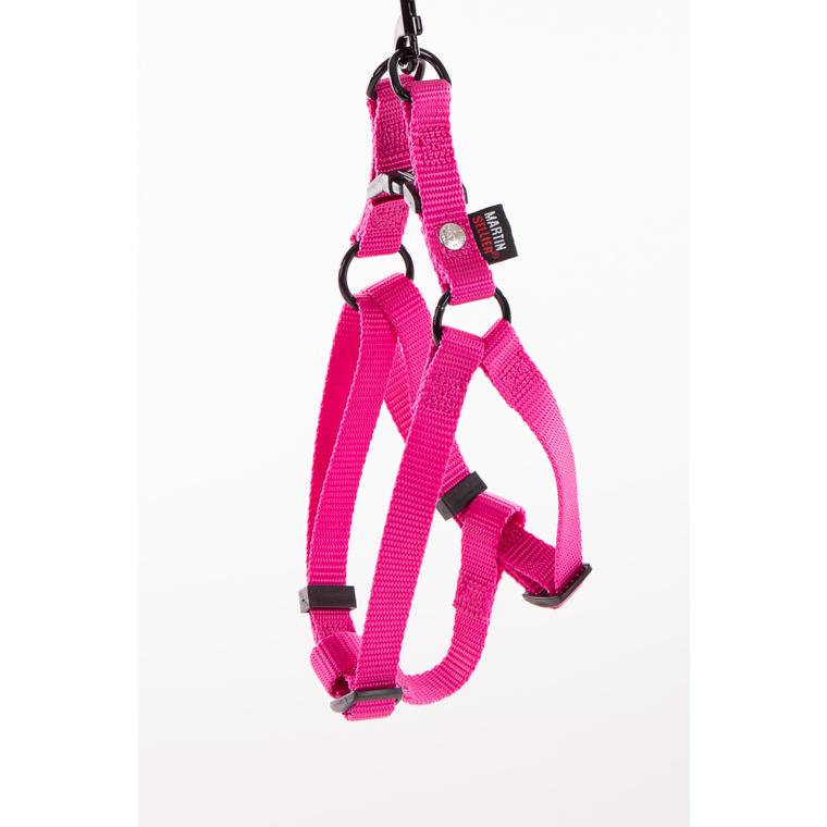 Harnais baudrier réglable rose pour chien - 1,6x35/50 cm 232025