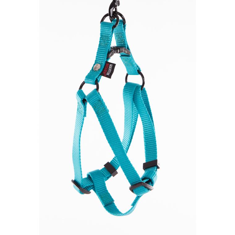 Harnais baudrier réglable turquoise pour chien - 1,6x35/50 cm 232026