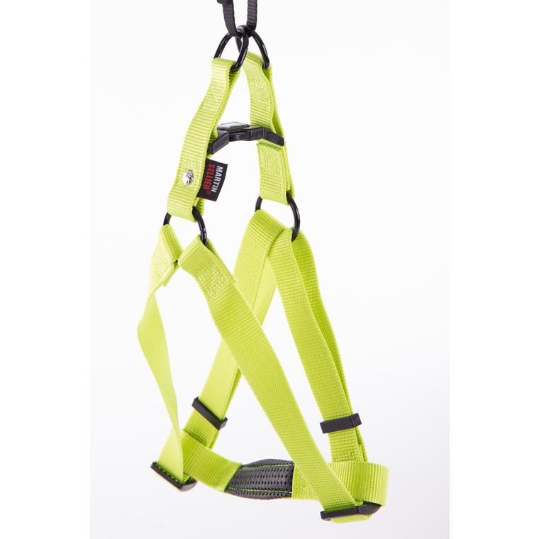 Harnais baudrier réglable vert citron pour chien - 2,5x70/90 cm 232037