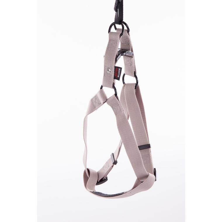 Harnais baudrier réglable gris pour chien - 2,5x70/90 cm 232040