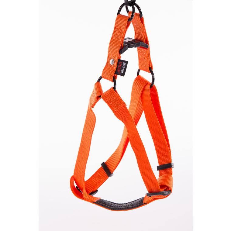 Harnais baudrier réglable orange pour chien - 2,5x70/90 cm 232042