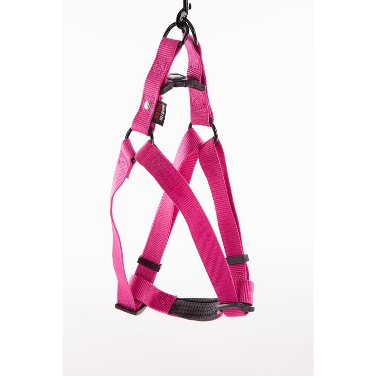 Harnais baudrier réglable rose pour chien - 2,5x70/90 cm 232043