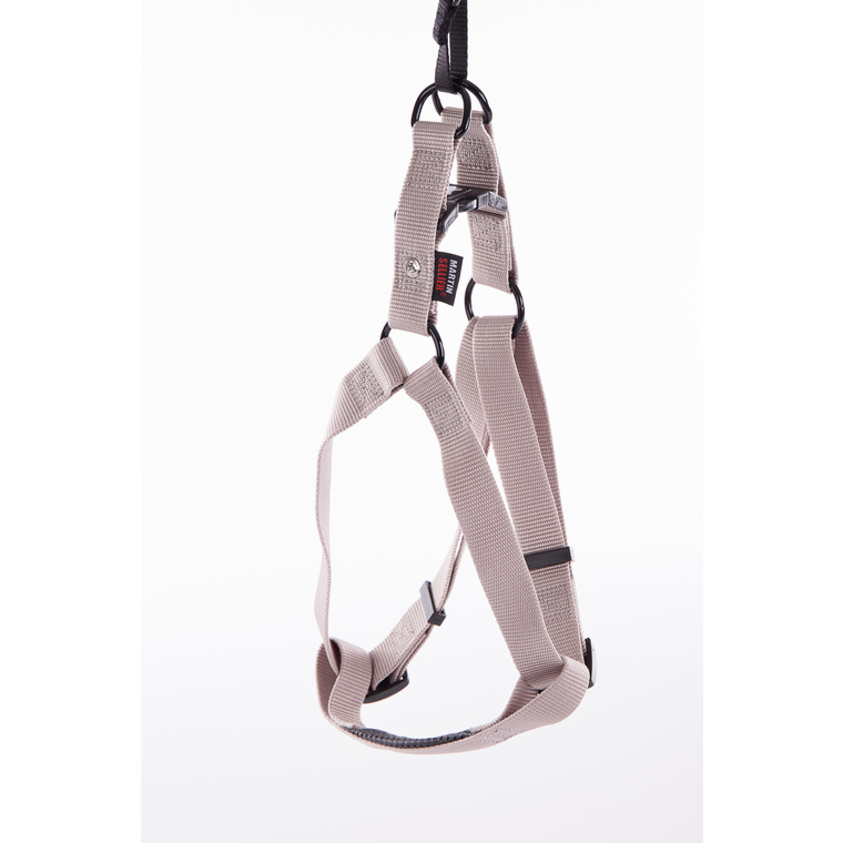 Harnais baudrier réglable gris pour chien - 4x90/110 cm 232049