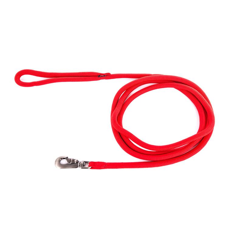 Longe ronde pour chien coloris rouge 1,3 cm x 3 m 232081