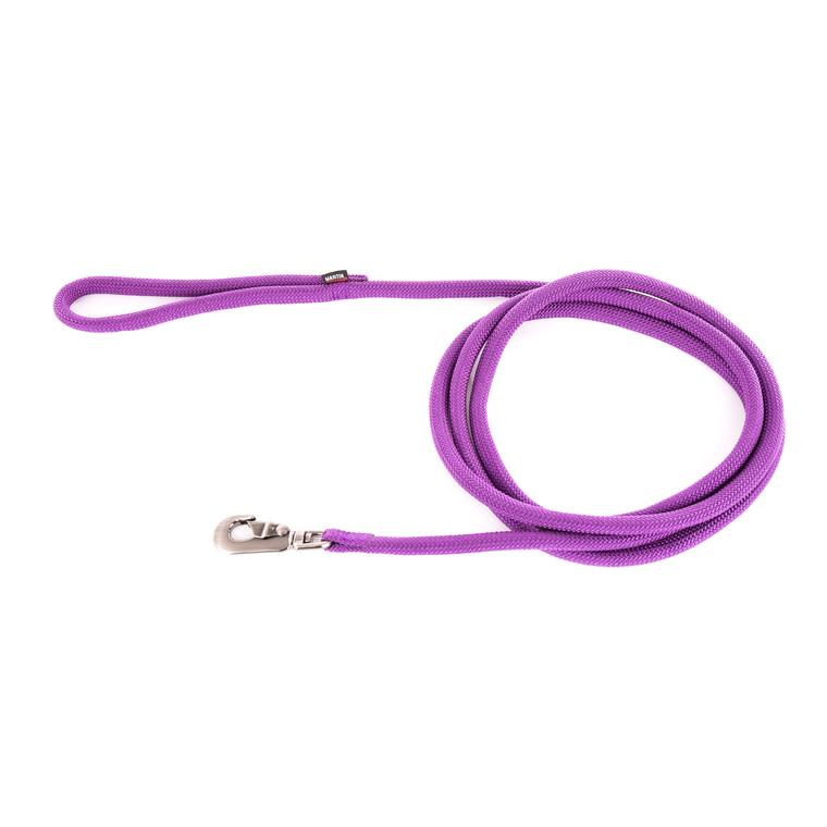 Longe ronde pour chien coloris mauve 1,3 cm x 3 m 232086