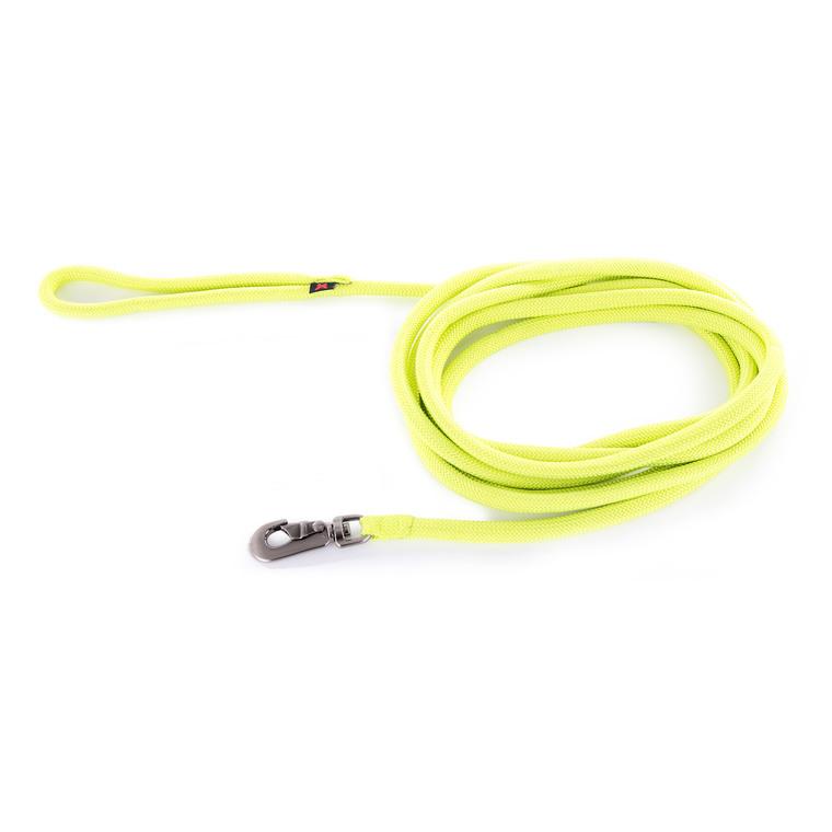 Longe ronde pour chien coloris vert citron 1,3 cm x 5 m 232091