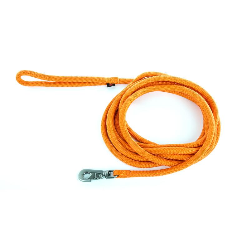 Longe ronde pour chien coloris orange 1,3 cm x 5 m 232096