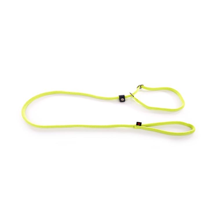 Laisse avec collier semi-étrangleur vert citron 1,3x180 cm 232109