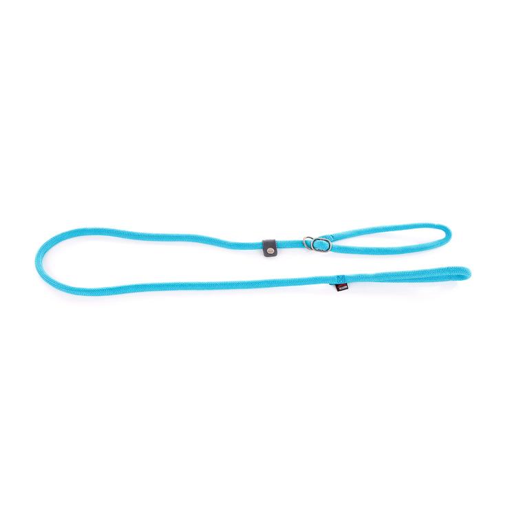 Laisse avec collier semi-étrangleur turquoise 1,3x180 cm 232116