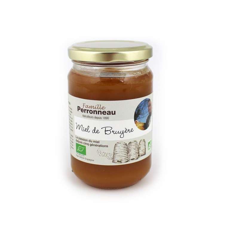 Miel de bruyère bio - pot en verre de 375 g 232744