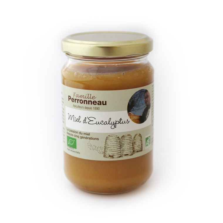 Miel d'eucalyptus bio dans pot en verre de 375 g 232747