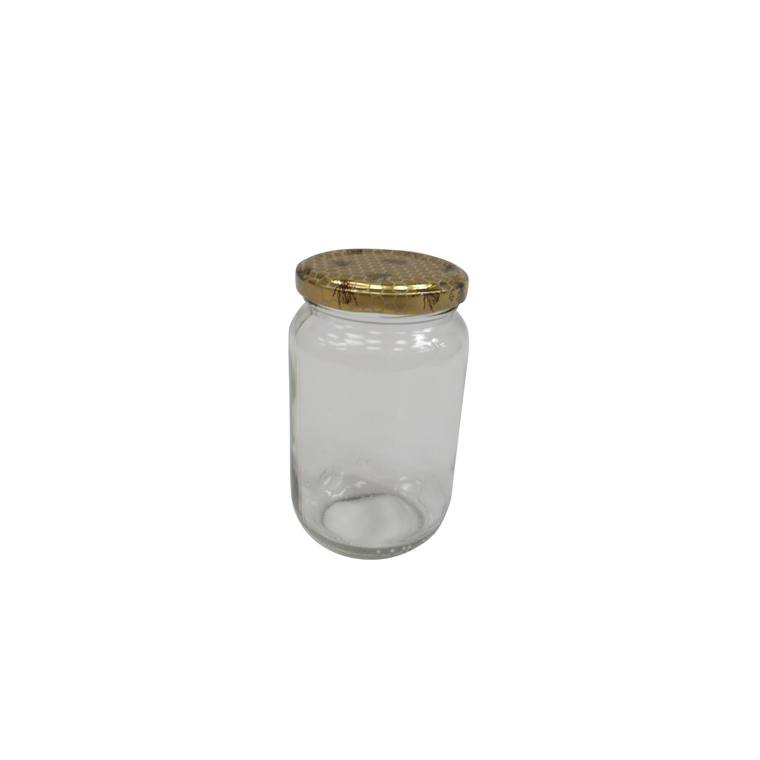 Pot en verre avec capsule 250 g x 10