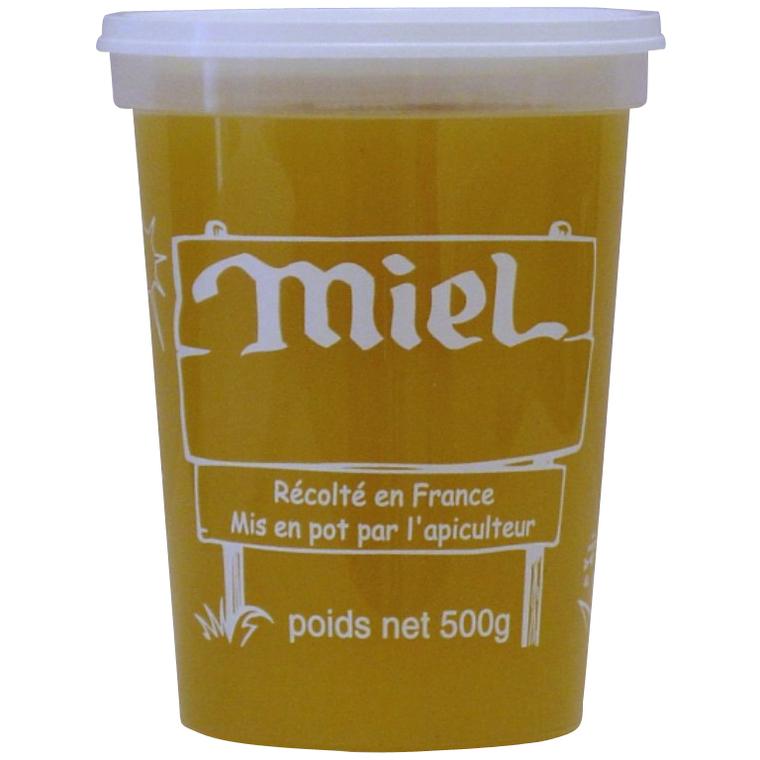 Pot plastique Miel Récolté 500 g 233209