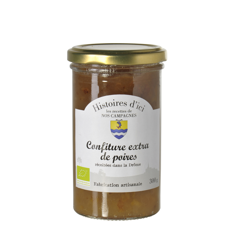 Confiture de Poires bio de la Drôme Histoire d'ici 300 g