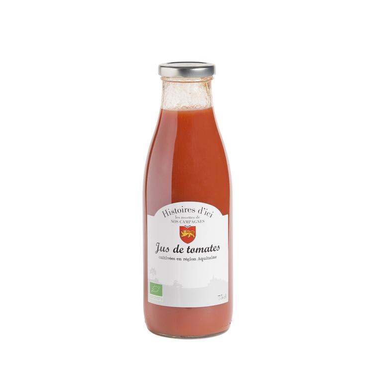 Pur jus de tomate 100 % bio Aquitaine 75 cl HISTOIRE D'ICI 233396