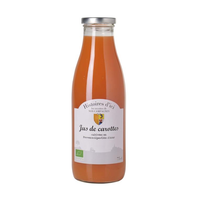 Pur jus de carotte 100 % bio PACA Histoire d'ici 75 cl 233397