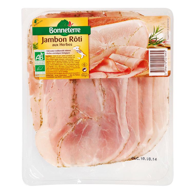 Jambon rôti aux herbes 100 g BONNETERRE 233605