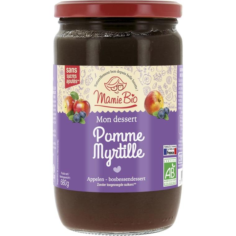 Purée de Pomme Myrtille bio - 680 gr