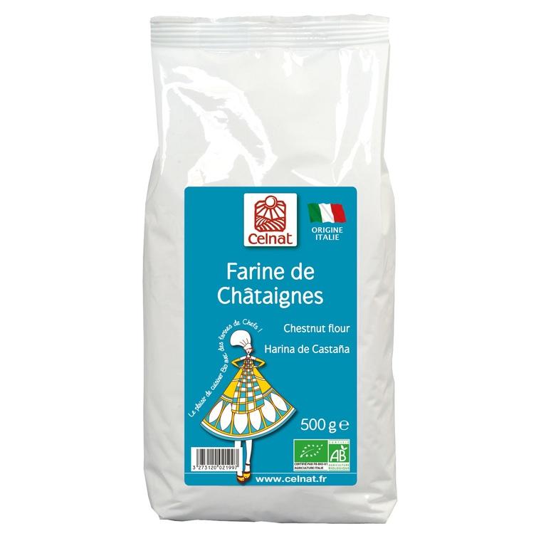 Farine de châtaigne bio en sachet de 500 g 233626