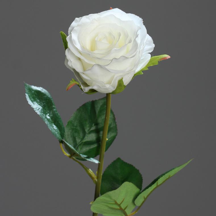Rose mi-ouverte artificielle H48 cm 233737