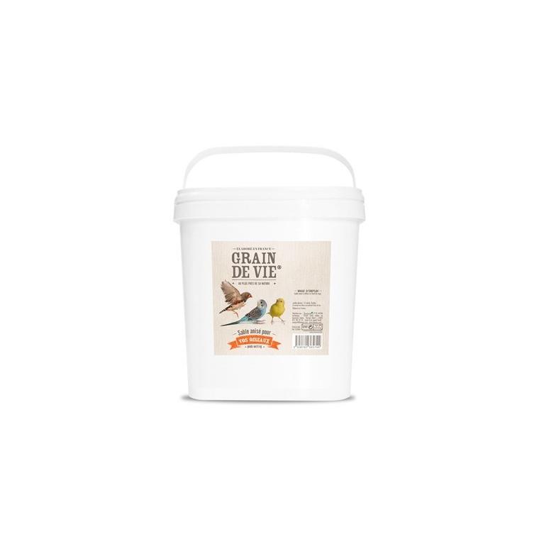 Sable blanc anisé en seau 6kg