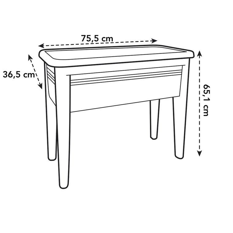 GREEN BASICS table de culture XXL noir living L75,5 x P36,5 x H65 234175