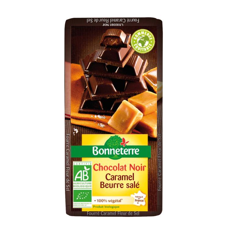 Chocolat noir fourre caramel fleur de sel 100 g BONNETERRE