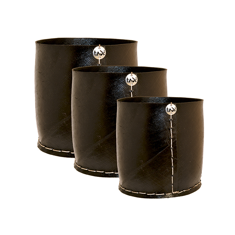 Cache pot droit en pneu Grand Modèle 30 cm Lot de 3 234399