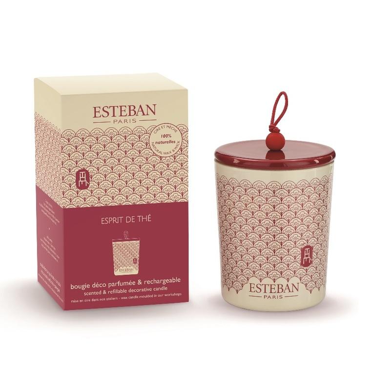 Bougie déco parfumée rechargeable - Esprit de thé 234557