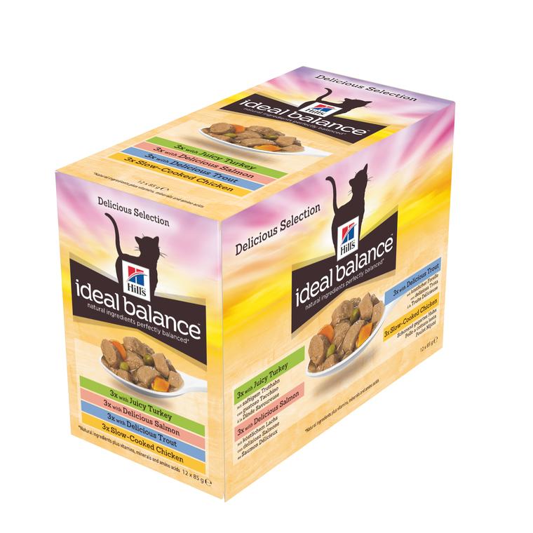 Pâtée canine adulte idéal balance multipack 4 saveurs 12 x 85 g