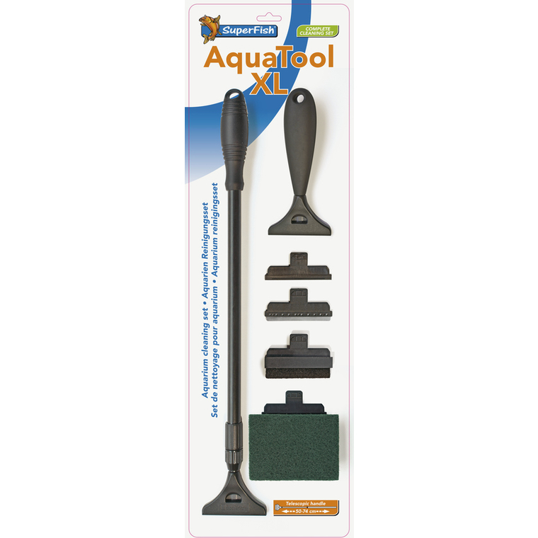 Aquatool XL 5 Accessoires + Poignée Télescopique (50/74 cm) 234778