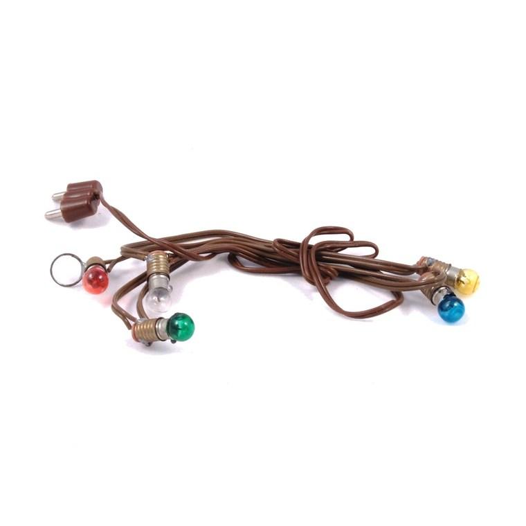 Mini Guirlande de 5 lampes colorées 3,5V - 13 cm 242043