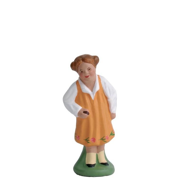 Fillette en robe jaune 7  cm 242293