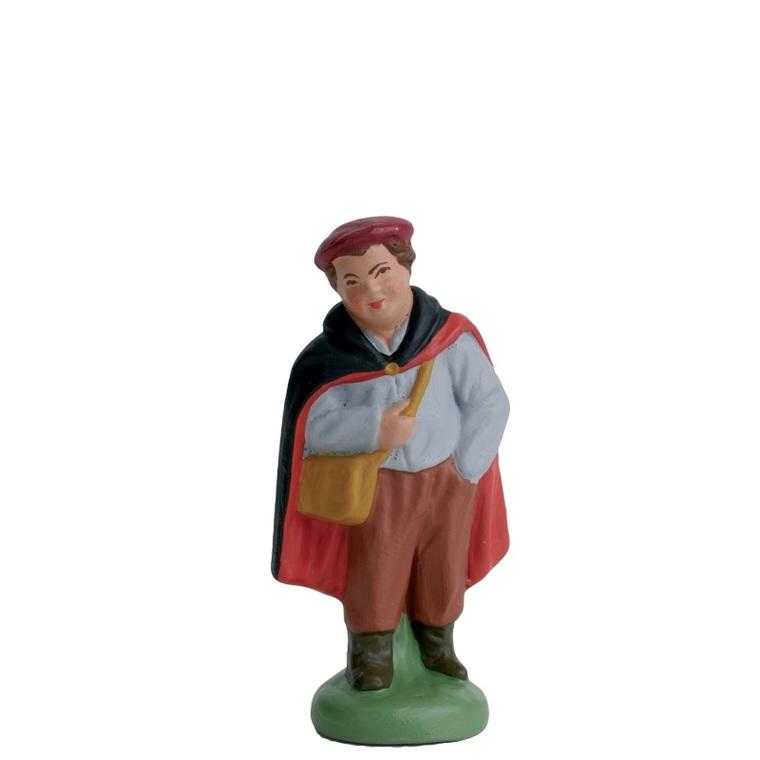 Garçonnet avec cape noire et rouge 7 cm