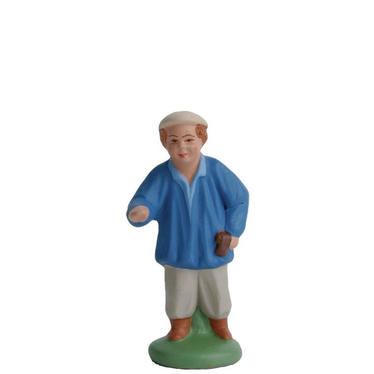Garçonnet en Chemise bleue 7 cm 242299