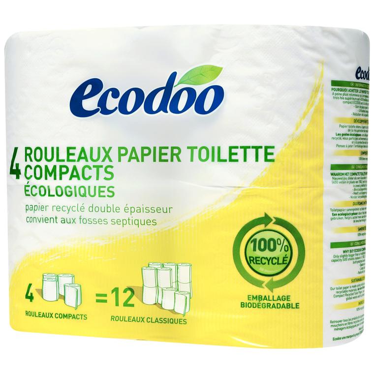 Papier toilette 100% papier recyclé x 4 rouleaux 242560