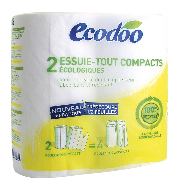 Essuie tout compact recyclé ECODOO 242561