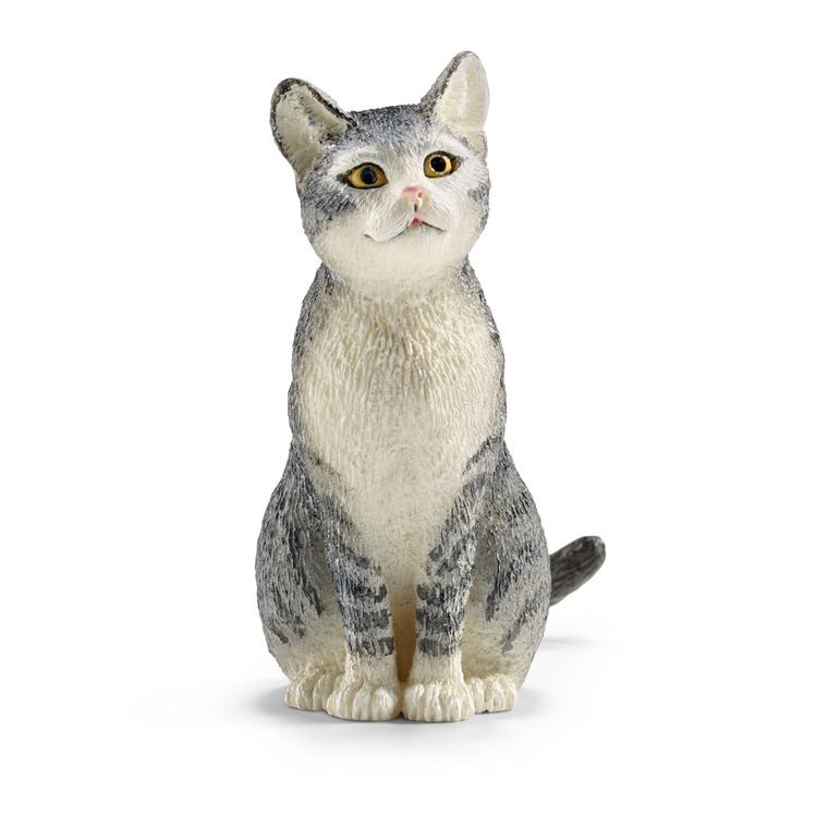 Figurine Chat assis Série Animaux de la Ferme 2,5x3,8x4,5 cm 245384